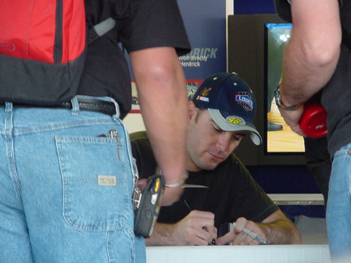 Jimmie during the autograph cattle call Marissa went to...